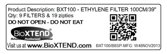 BioXTEND Quality Control Label