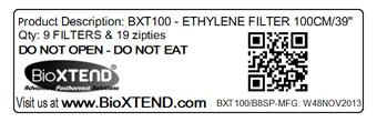 BioXTEND Quality Control Label