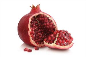 Pomegranate fruit cut open